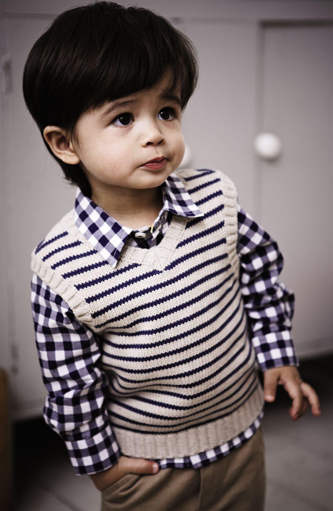 Alternate Image 2  - Mini Boden 'Baby' Shirt (Baby)