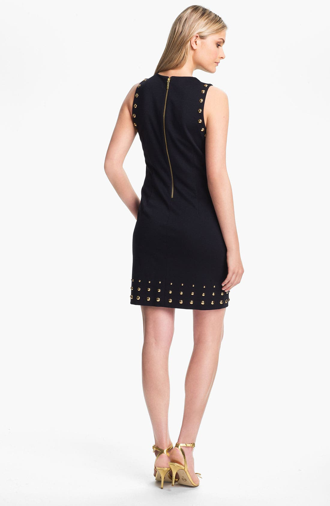 Alternate Image 2  - MICHAEL Michael Kors Studded Ponte Shift Dress