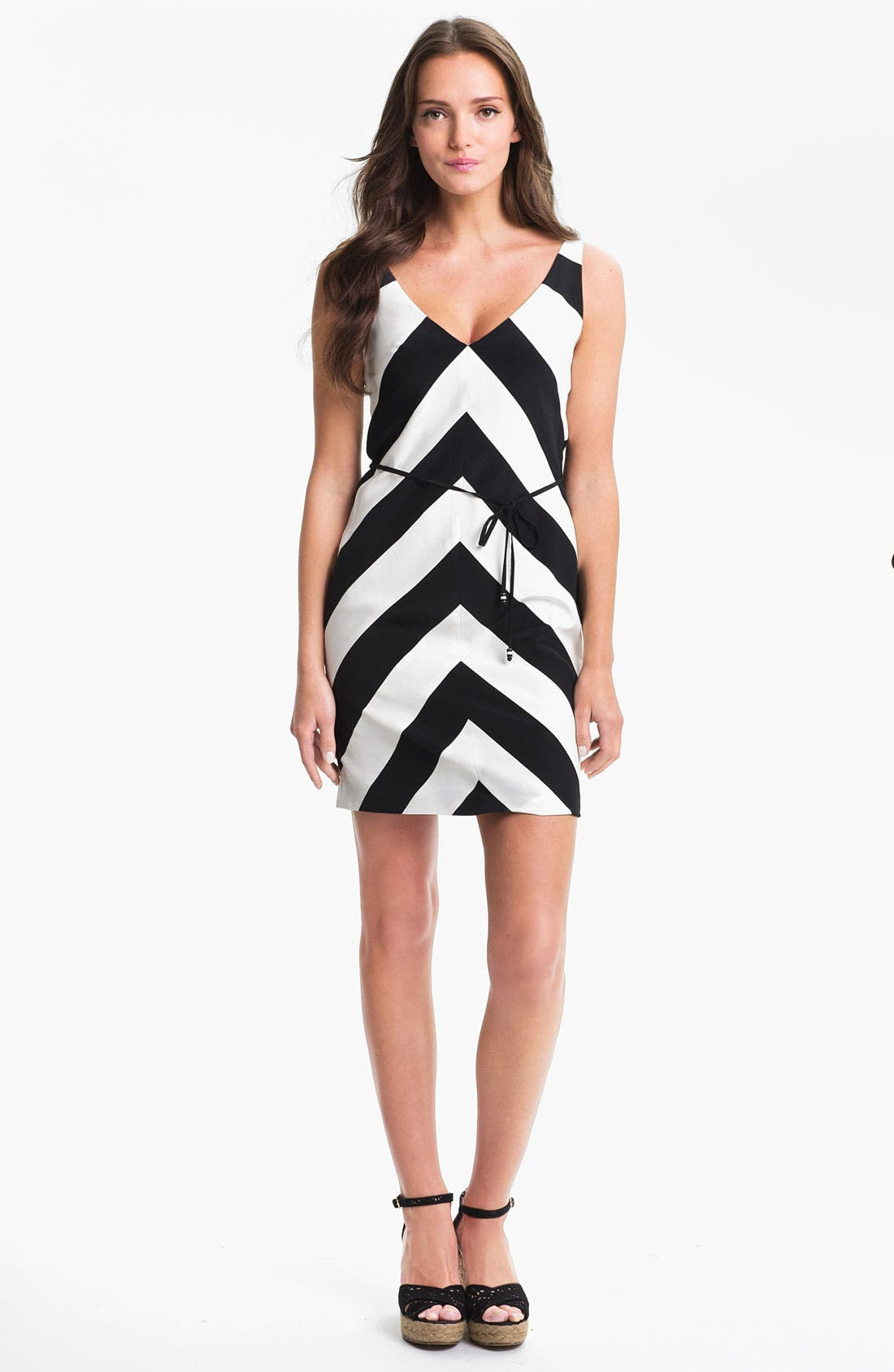 Main Image - Trina Turk 'Rally' Stripe Silk Dress