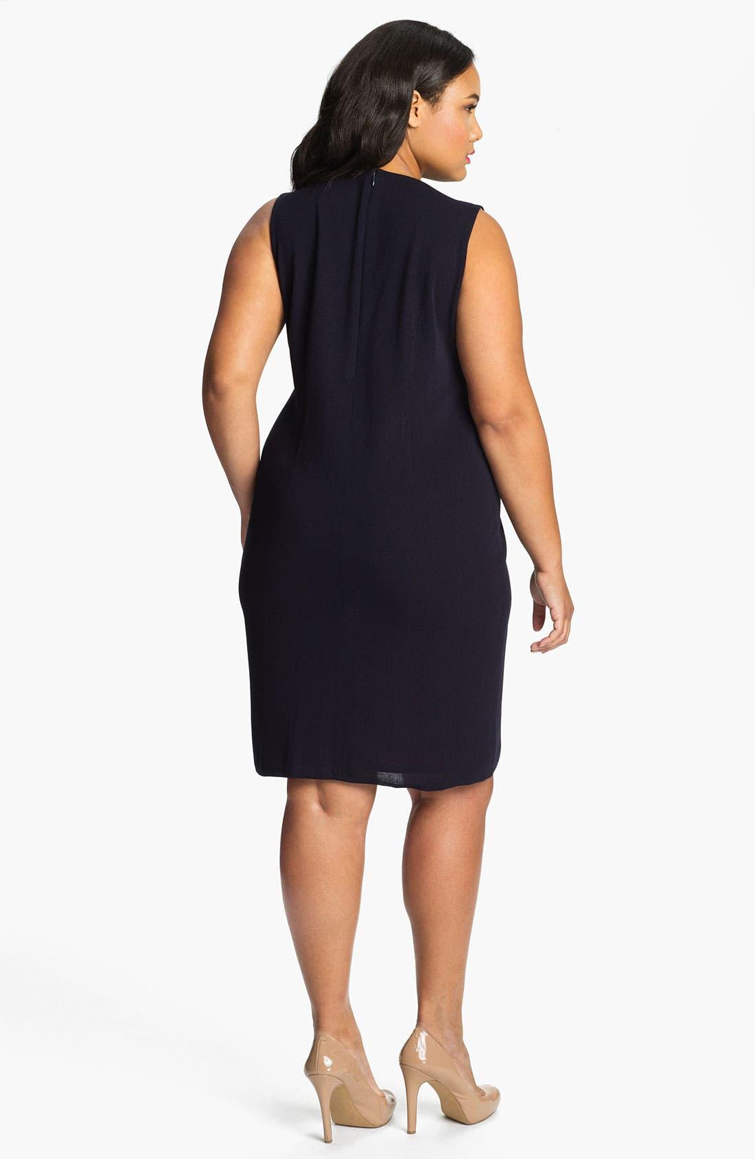 Alternate Image 2  - Exclusively Misook 'Alex' Tailored Sheath Dress (Plus)