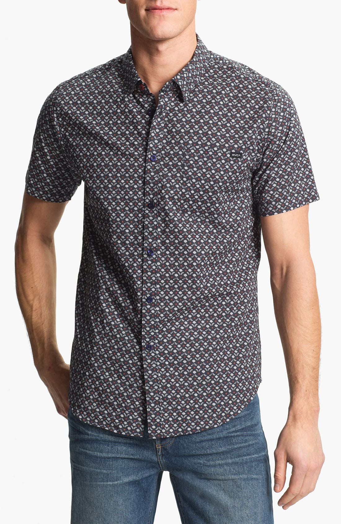 Alternate Image 1 Selected - RVCA 'Dimensions' Print Woven Shirt