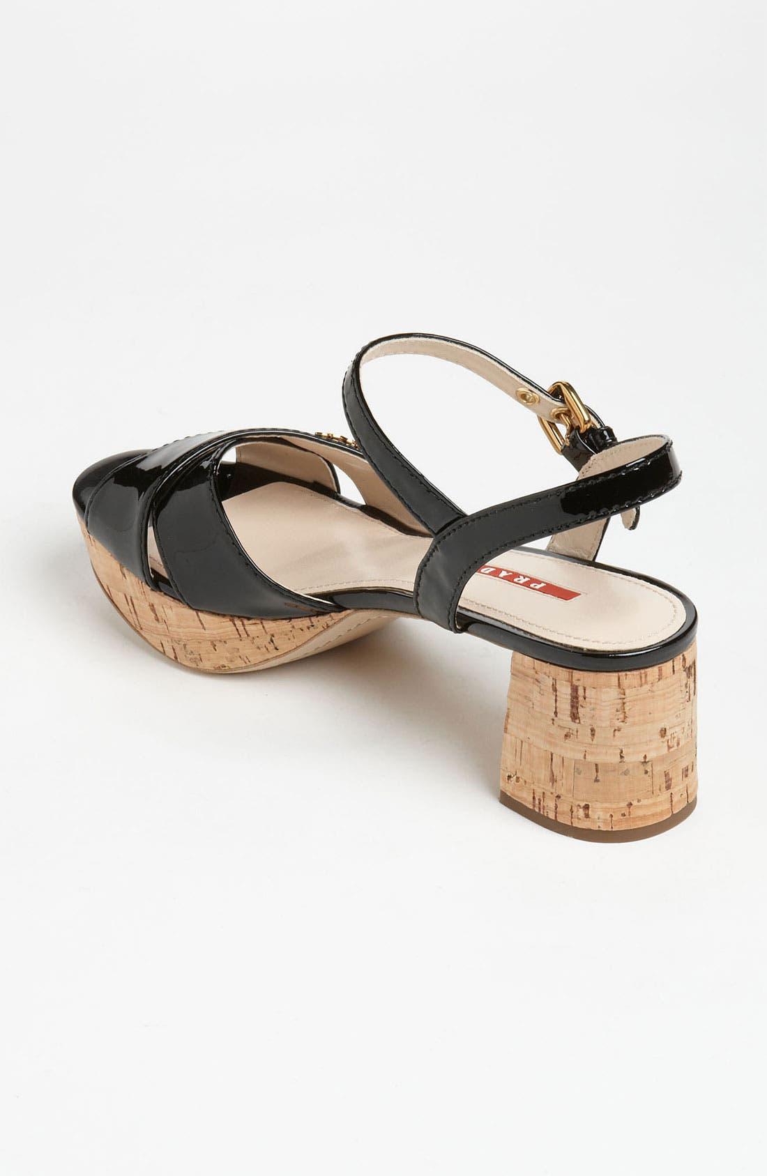 Alternate Image 2  - Prada Cork Heel Sandal