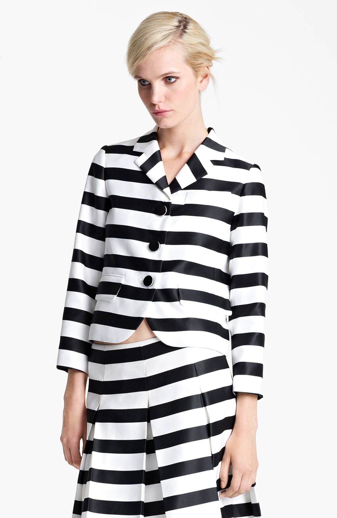 Alternate Image 2  - MARC JACOBS Large Stripe Satin Gabardine Jacket