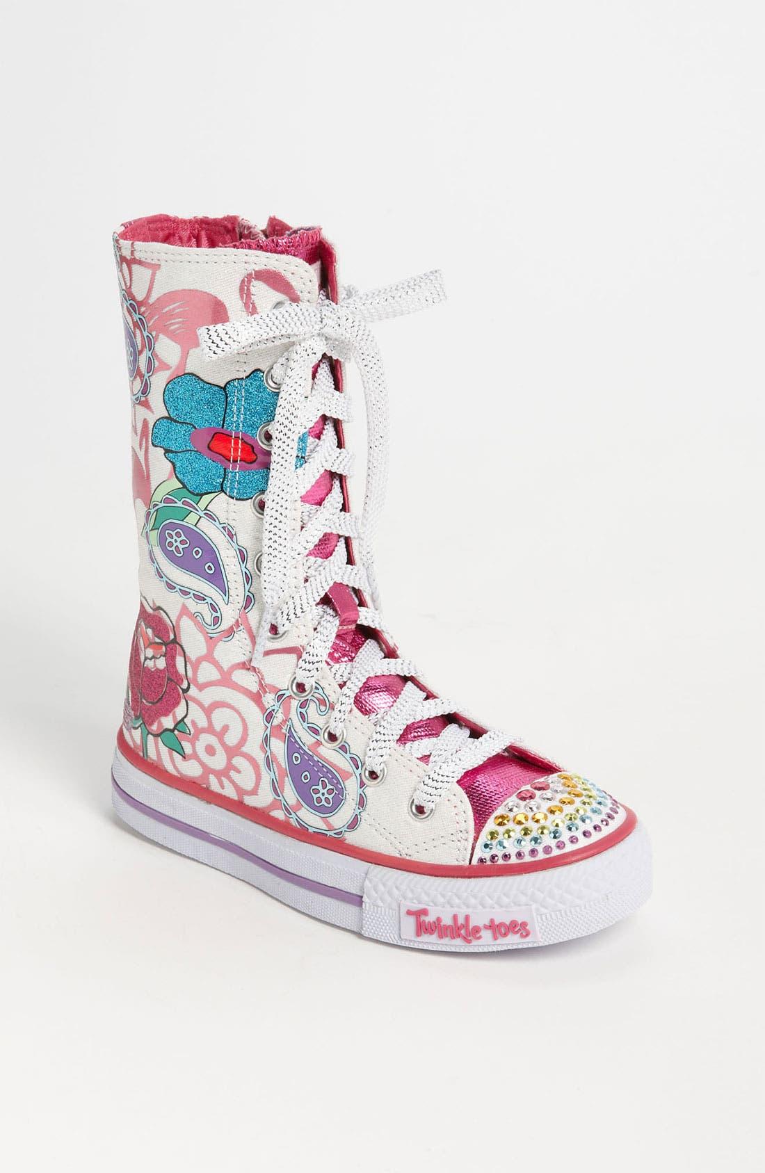 Alternate Image 1 Selected - SKECHERS 'Twinkle Toes - Shuffles Mellow Me' Sneaker (Toddler & Little Kid)