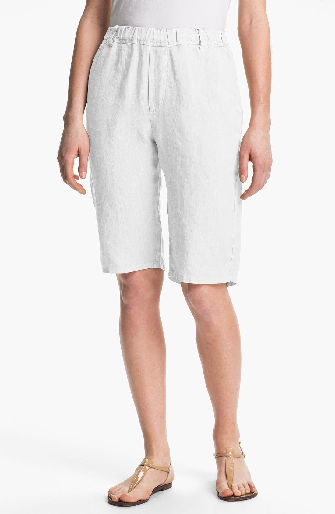 Alternate Image 1 Selected - Nicki & Bell Linen Bermuda Shorts