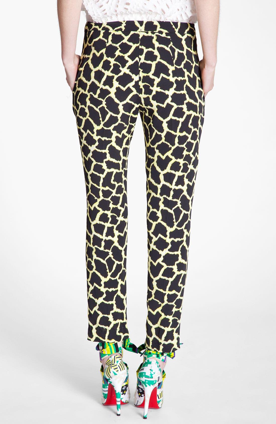 Alternate Image 2  - MSGM Giraffe Print Straight Leg Pants