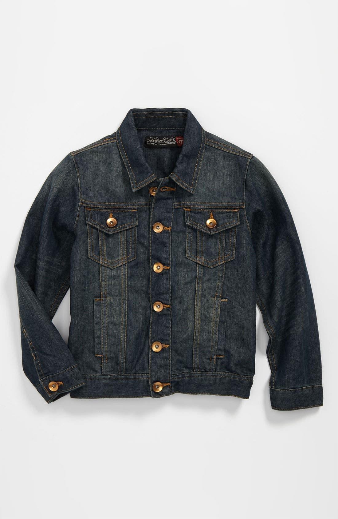 Alternate Image 1 Selected - Sovereign Code 'Dashing' Denim Jacket (Toddler)