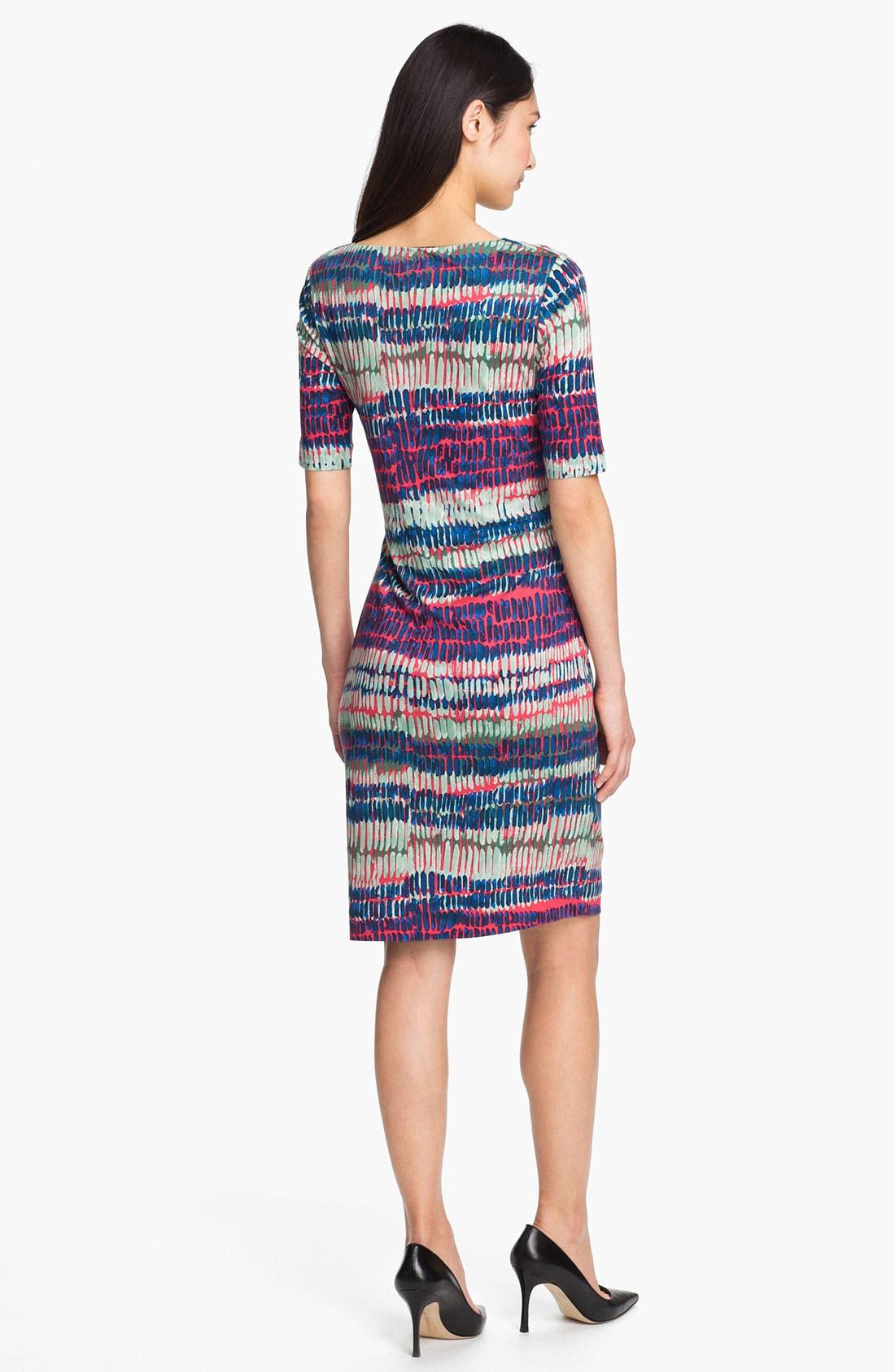 Alternate Image 2  - BOSS HUGO BOSS Drape Neck Modal Dress