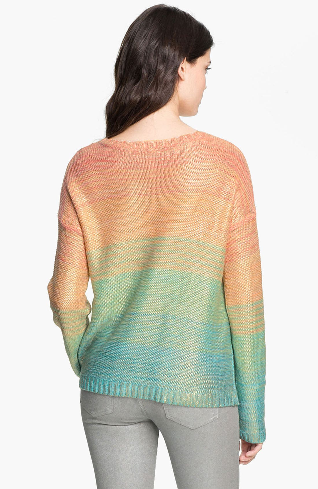 Alternate Image 2  - Willow & Clay 'Salt Water Taffy' Ombré Stripe Sweater