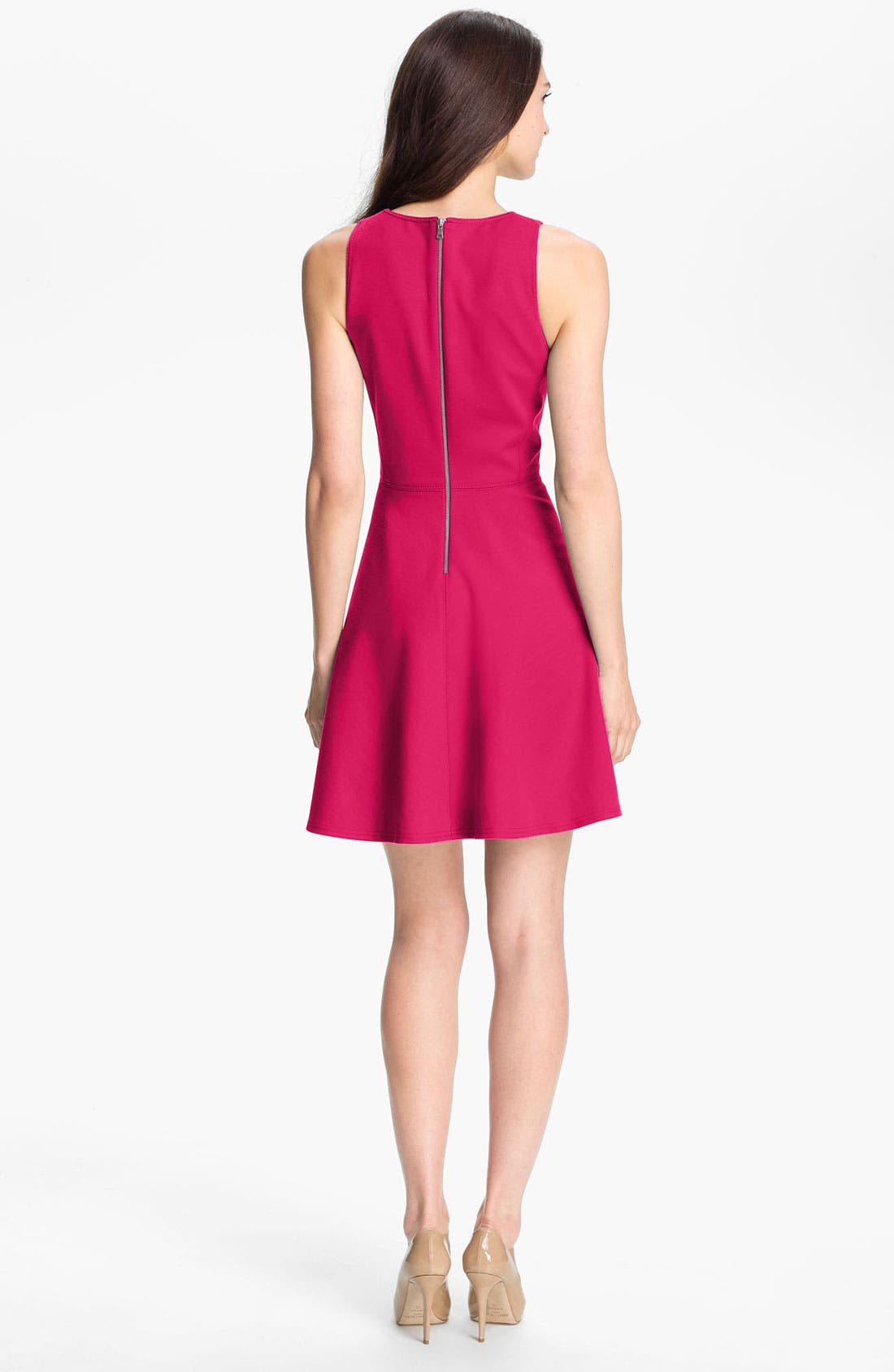 Alternate Image 2  - Rebecca Taylor Pleated Ponte Knit Dress
