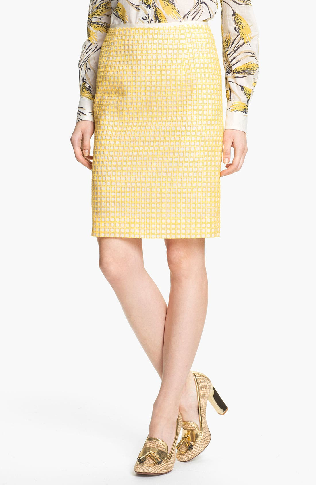 Alternate Image 1 Selected - Tory Burch 'Uma' Silk Skirt