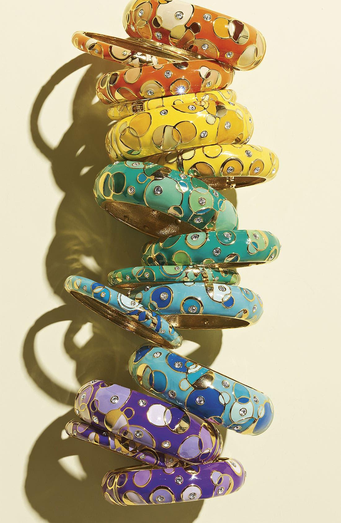 Alternate Image 2  - Sequin 'Kandinsky' Medium Enamel Bangle