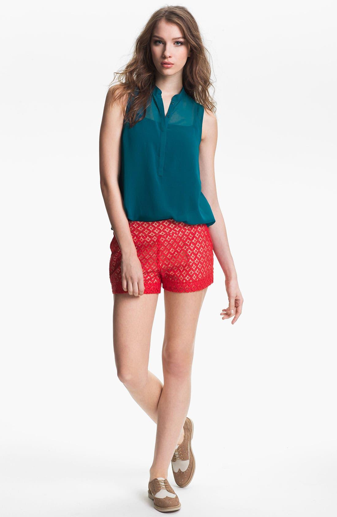 Alternate Image 1 Selected - Kensie 'Geo Lace' Shorts