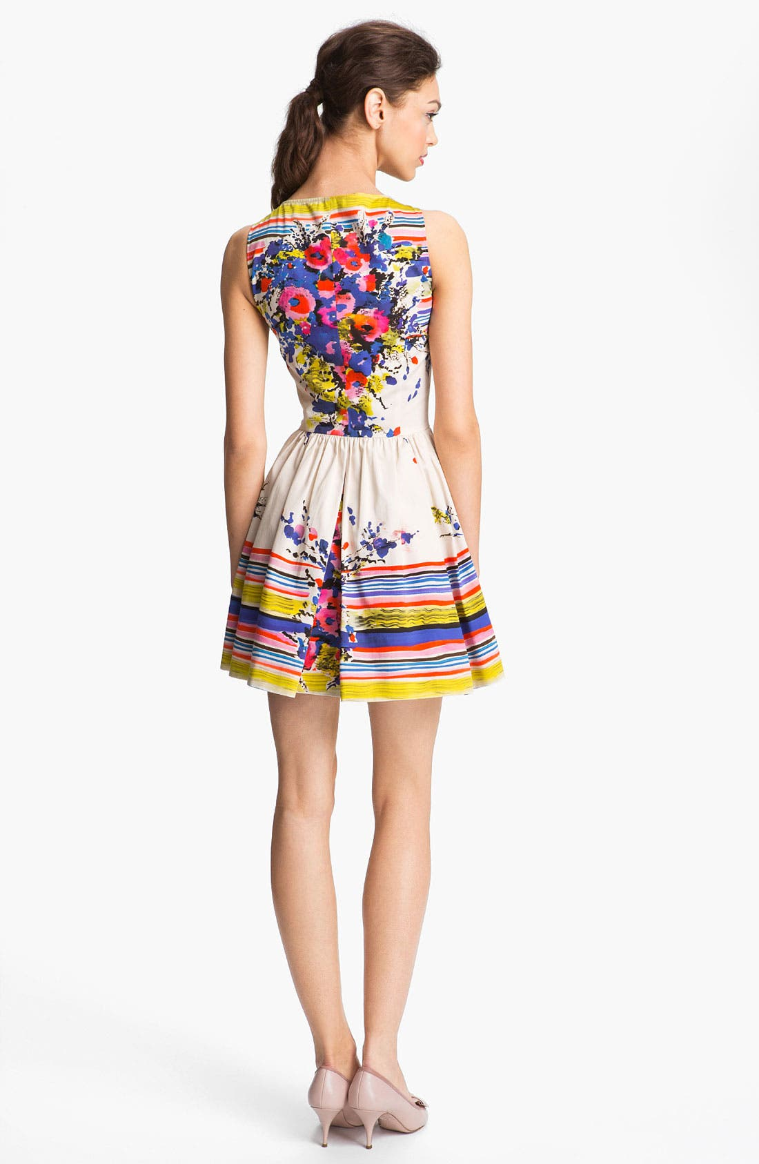 Alternate Image 2  - RED Valentino Bouquet Print Dress