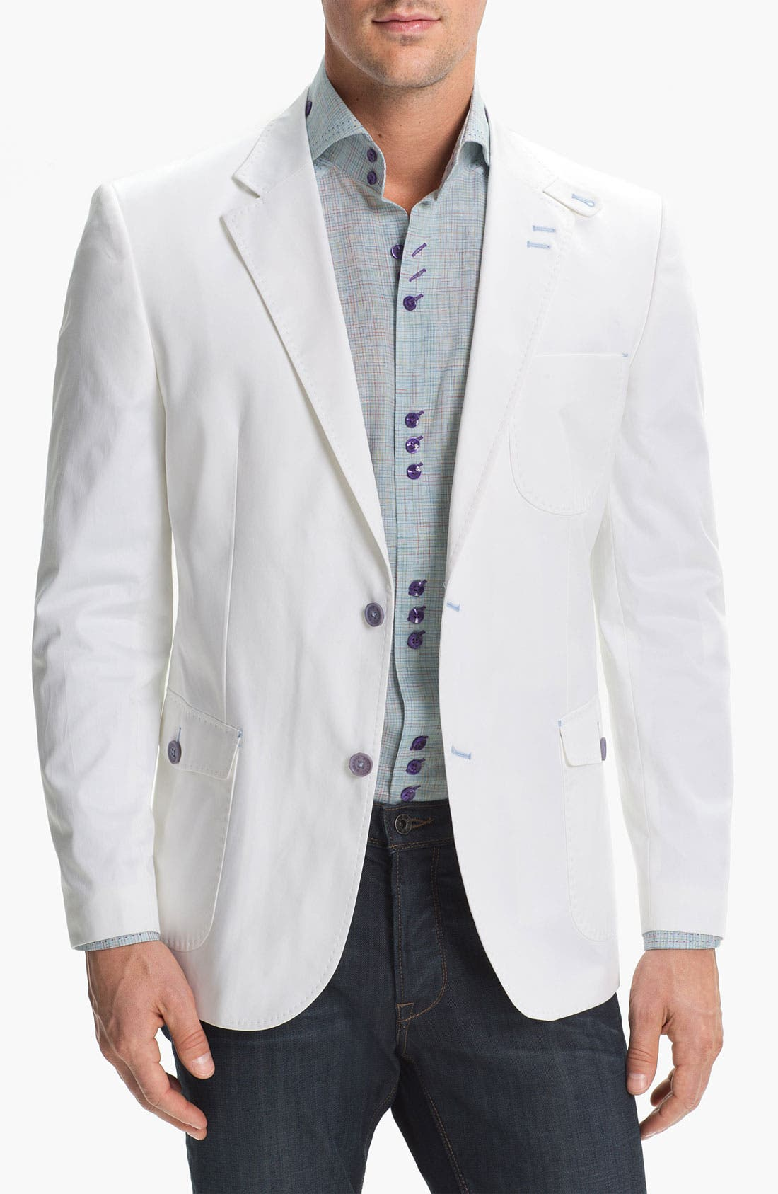 Main Image - Bogosse 'Russ 01' Trim Fit Cotton Blazer