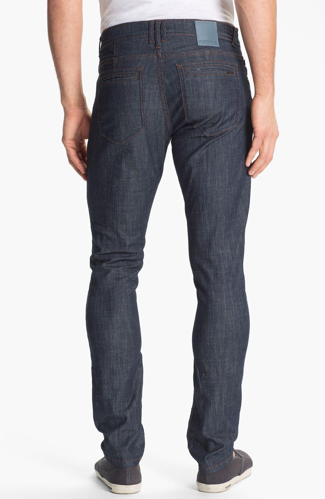 Alternate Image 1 Selected - Ezekiel 'Chopper' Slim Straight Leg Jeans (Dark Indigo)