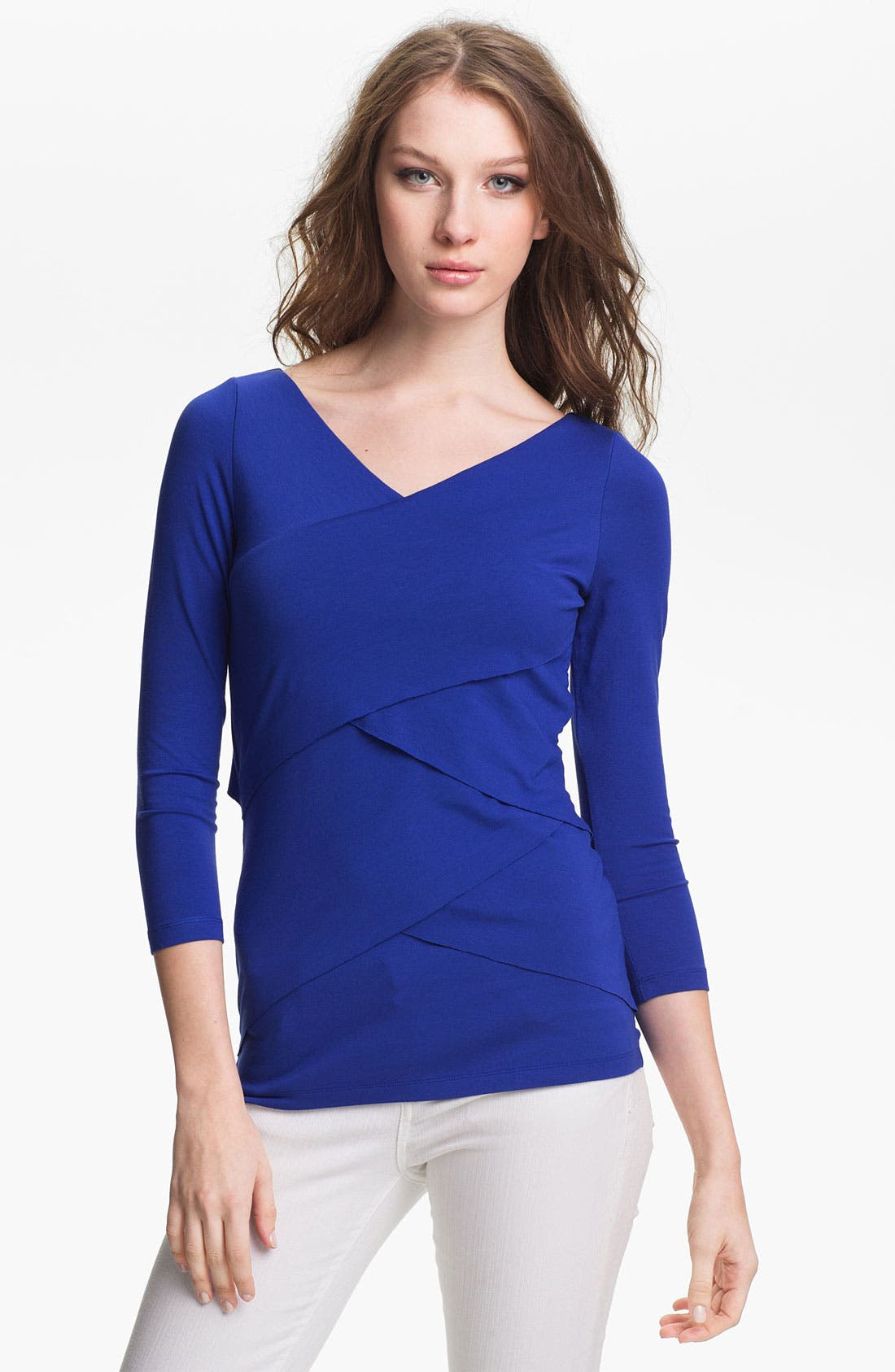 Main Image - Vince Camuto Three Quarter Sleeve Bandage Top
