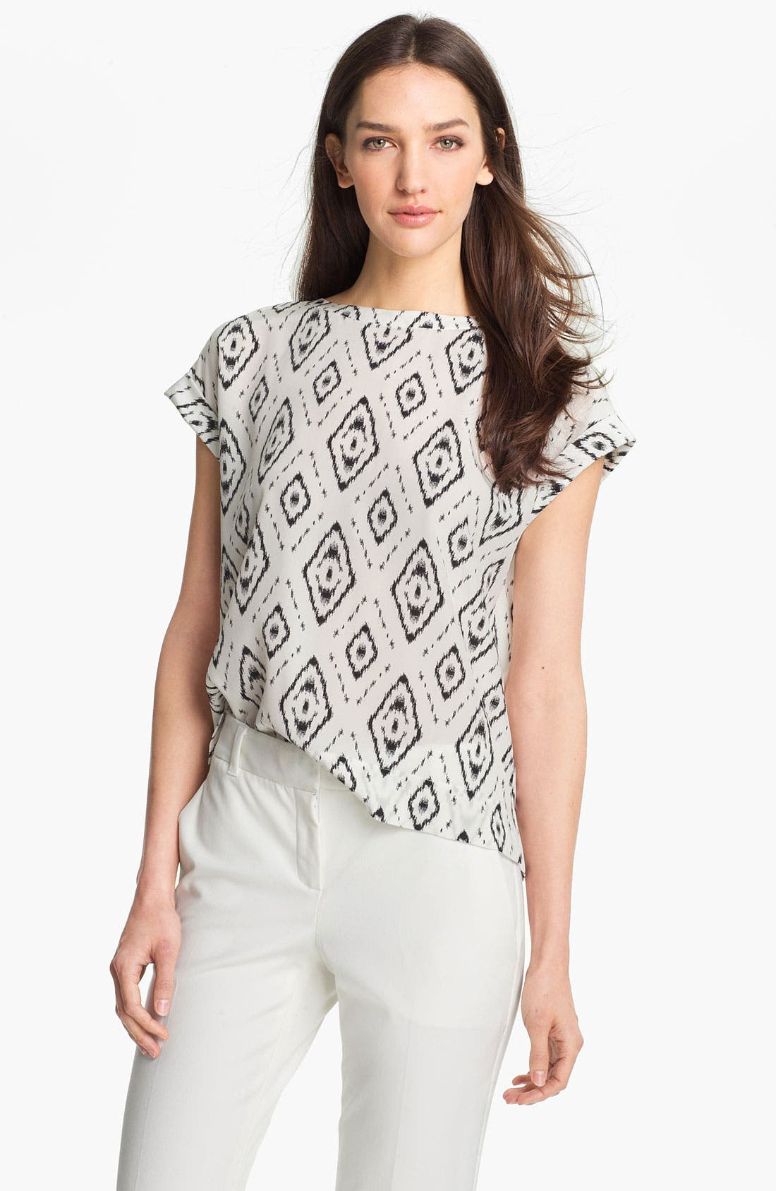 Main Image - Theory 'Sorcha' Print Silk Top