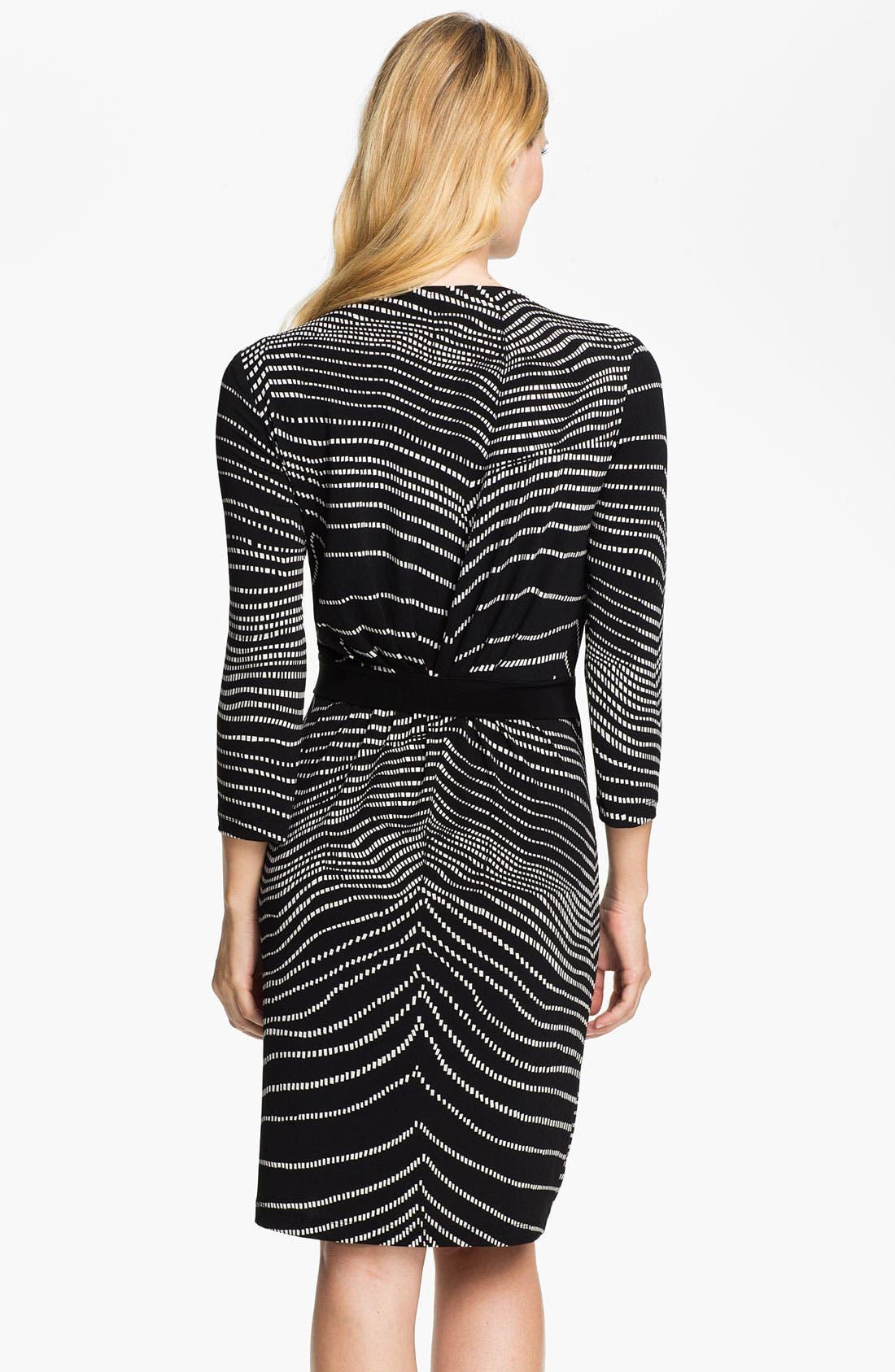 Alternate Image 2  - Alex & Ava Printed Faux Wrap Dress