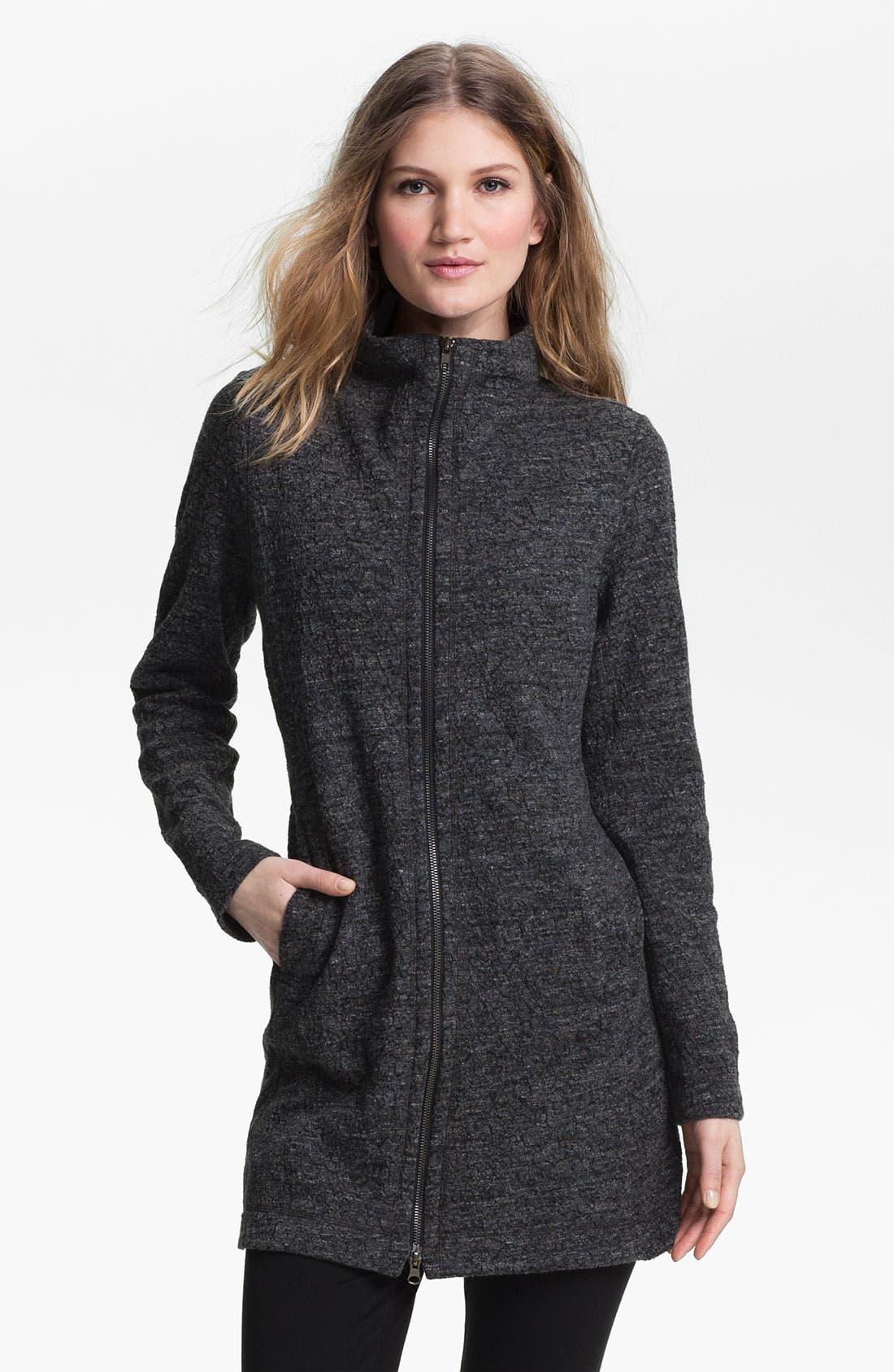 Alternate Image 1 Selected - Eileen Fisher Funnel Neck Zip Jacket (Petite)