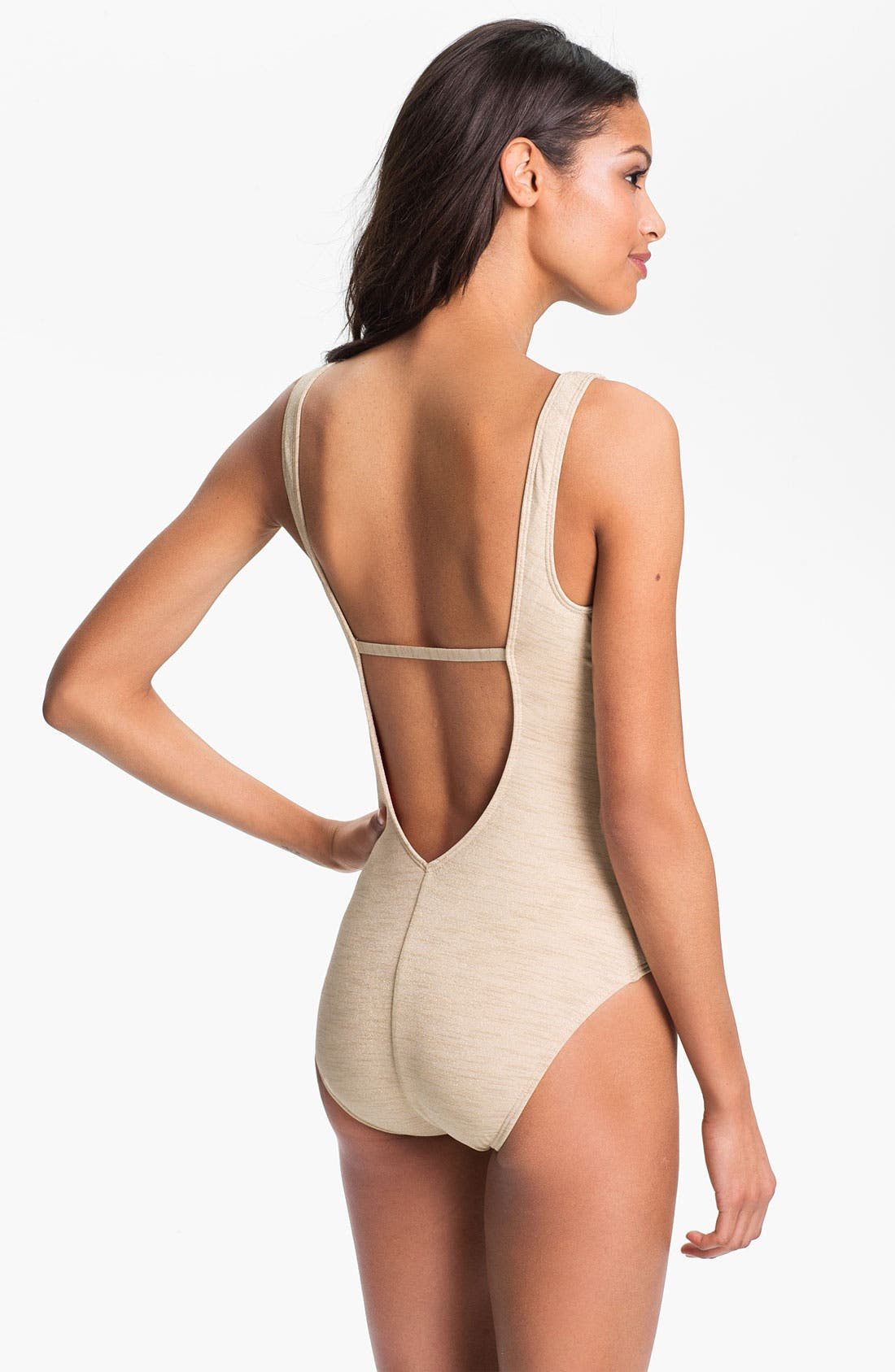 Alternate Image 2  - Luxe by Lisa Vogel 'Opening Night' Maillot Swimsuit