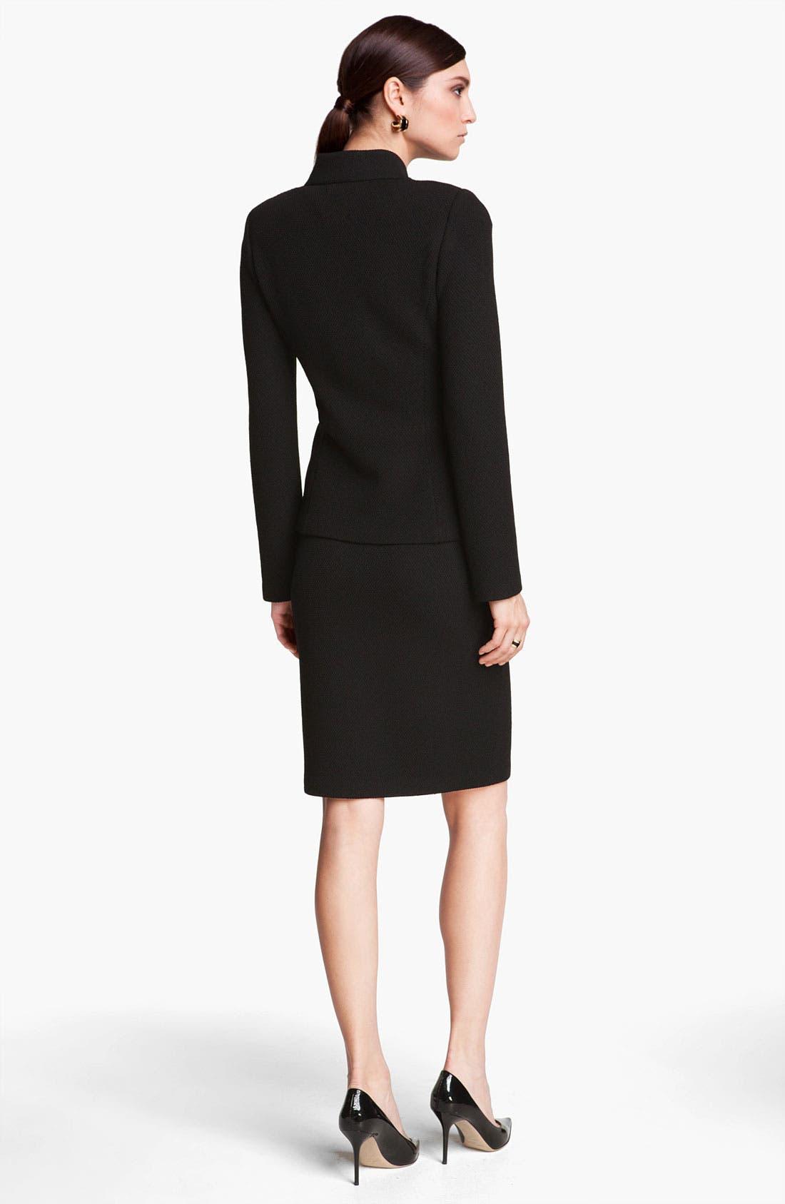 Alternate Image 3  - St. John Collection Mod Piqué Pencil Skirt