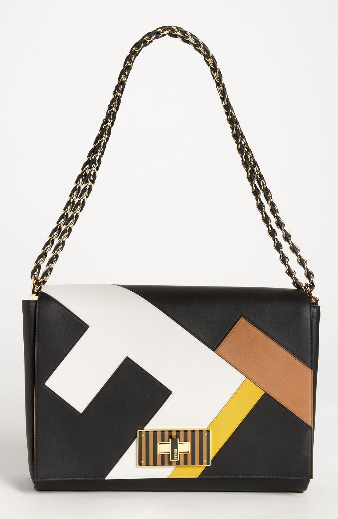 Alternate Image 1 Selected - Fendi 'Claudia 3D' Leather Shoulder Bag