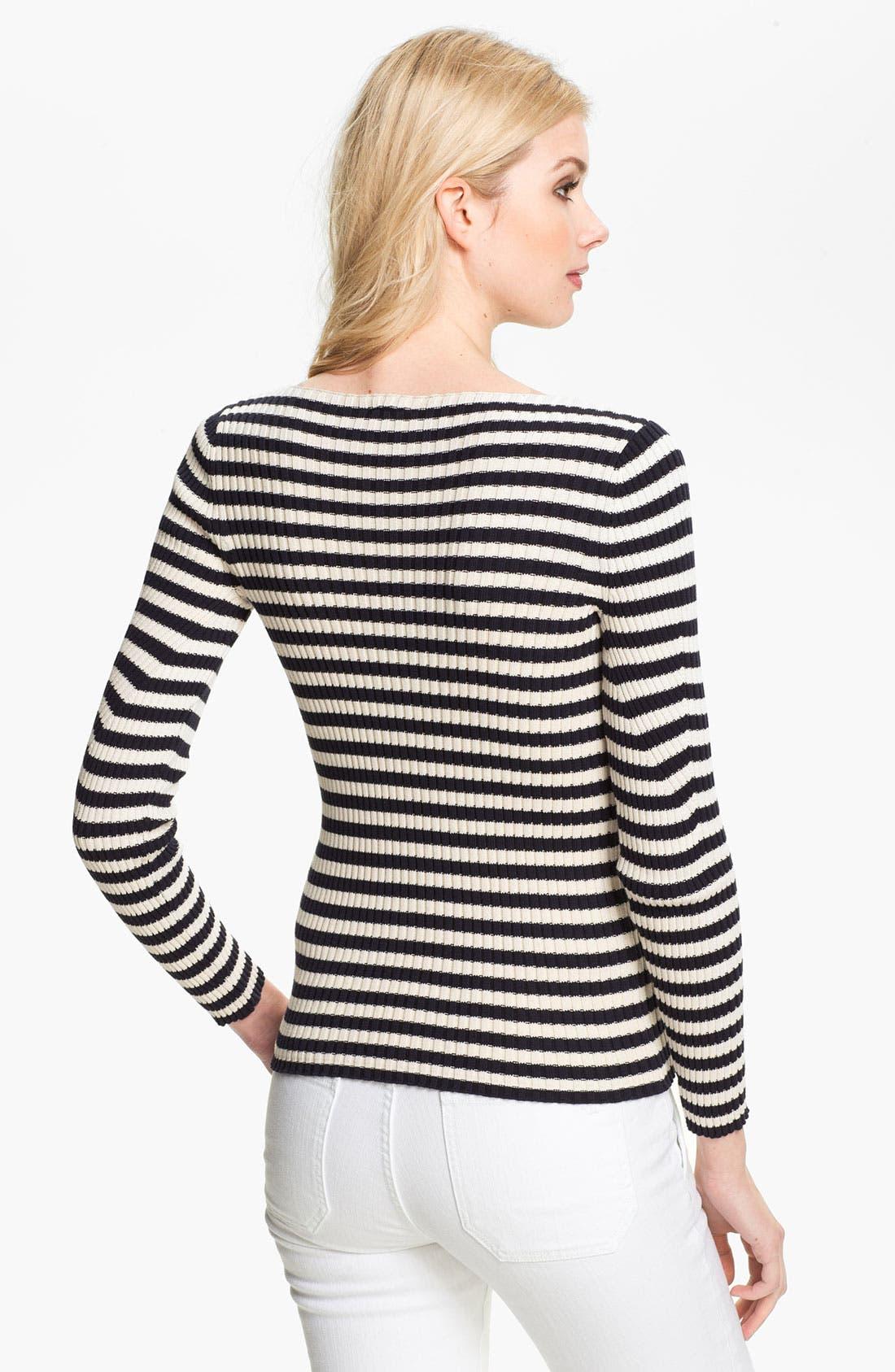 Alternate Image 2  - Tory Burch 'Verona' Stripe Sweater