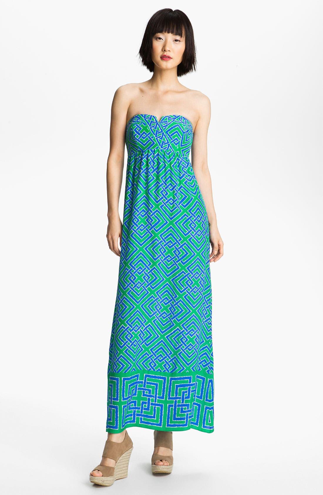 Alternate Image 1 Selected - ALICE & TRIXIE 'Tianna' Print Silk Maxi Dress