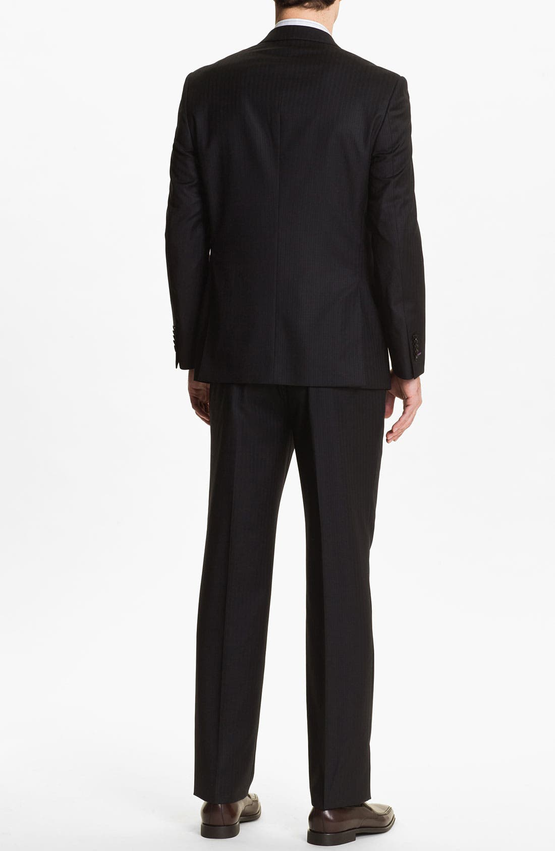 Alternate Image 3  - English Laundry Trim Fit Stripe Suit (Online Only)