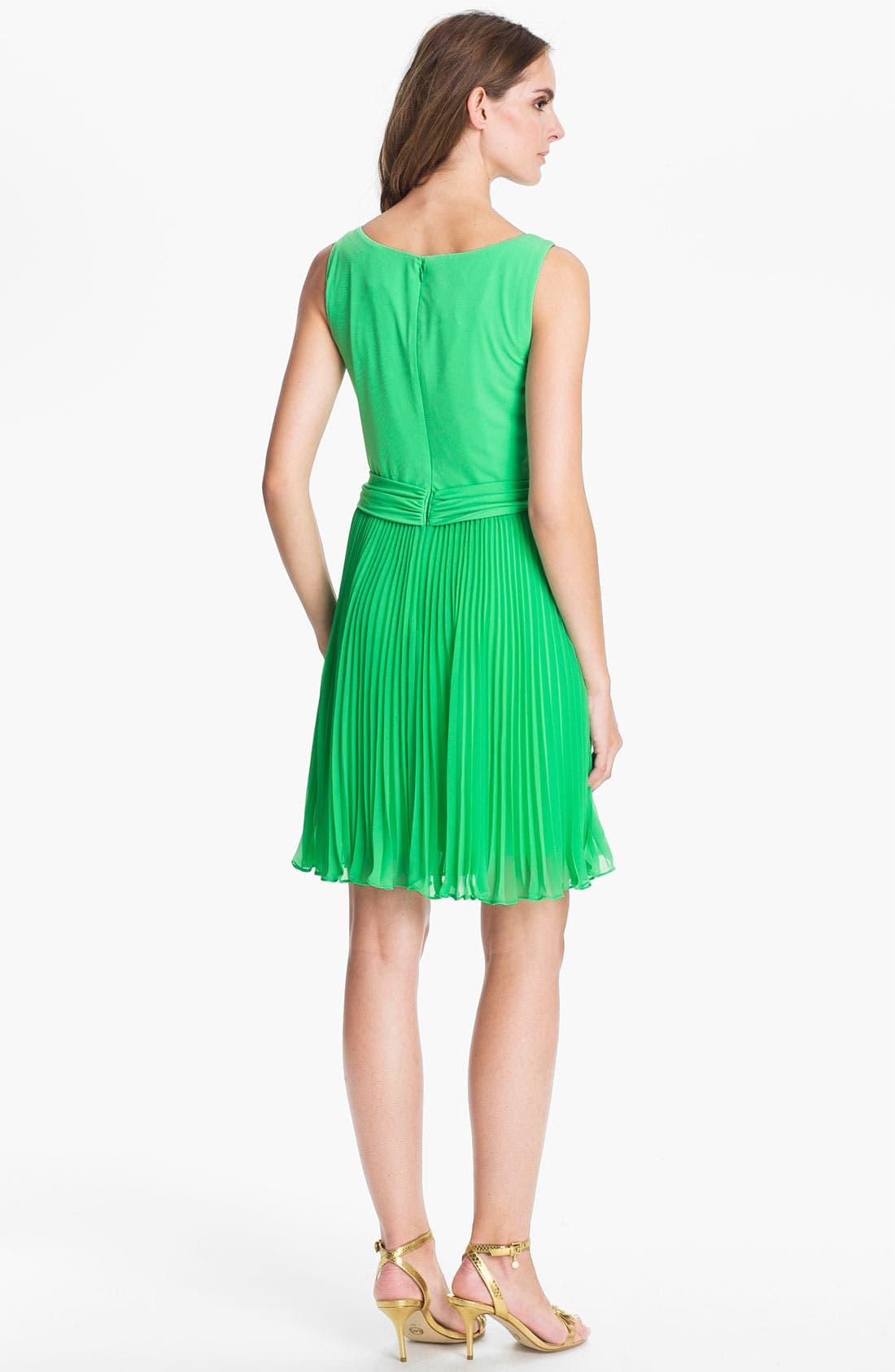 Alternate Image 2  - Suzi Chin for Maggy Boutique Pleated Chiffon Dress