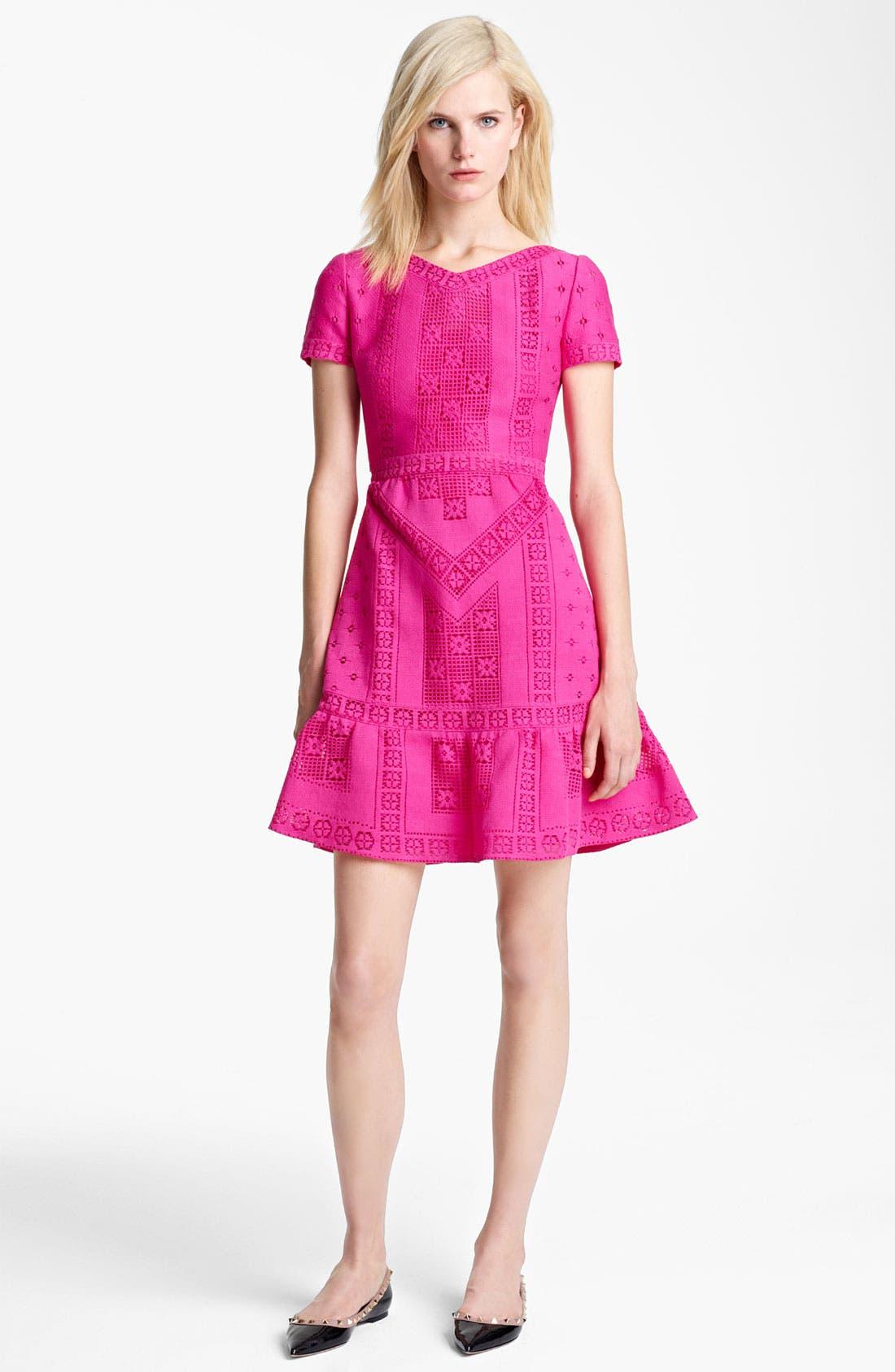 Main Image - Valentino V-Neck Lace Dress