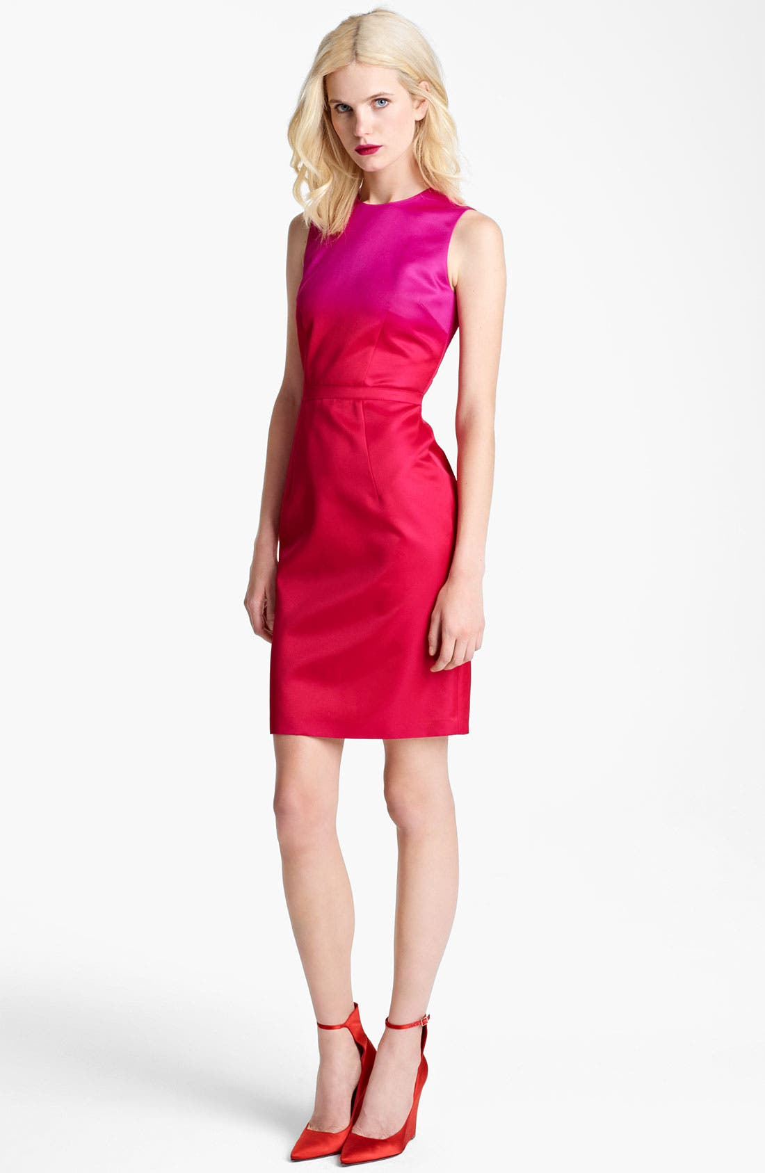 Alternate Image 1 Selected - Burberry Prorsum Satin Sheath Dress