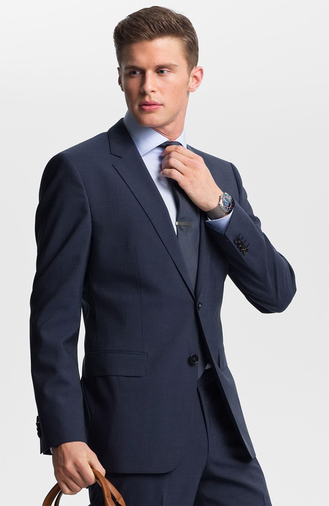 Alternate Image 1 Selected - BOSS Black 'James/Sharp' Trim Fit Suit
