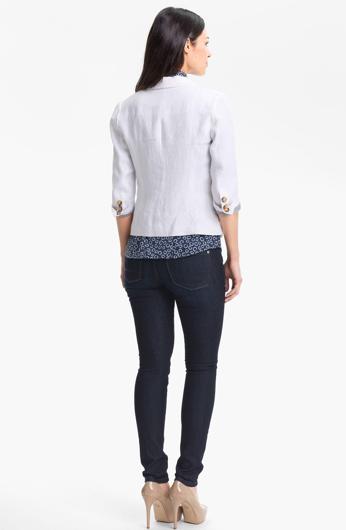 Alternate Image 5  - Foxcroft Sleeveless Print Shirt (Petite)
