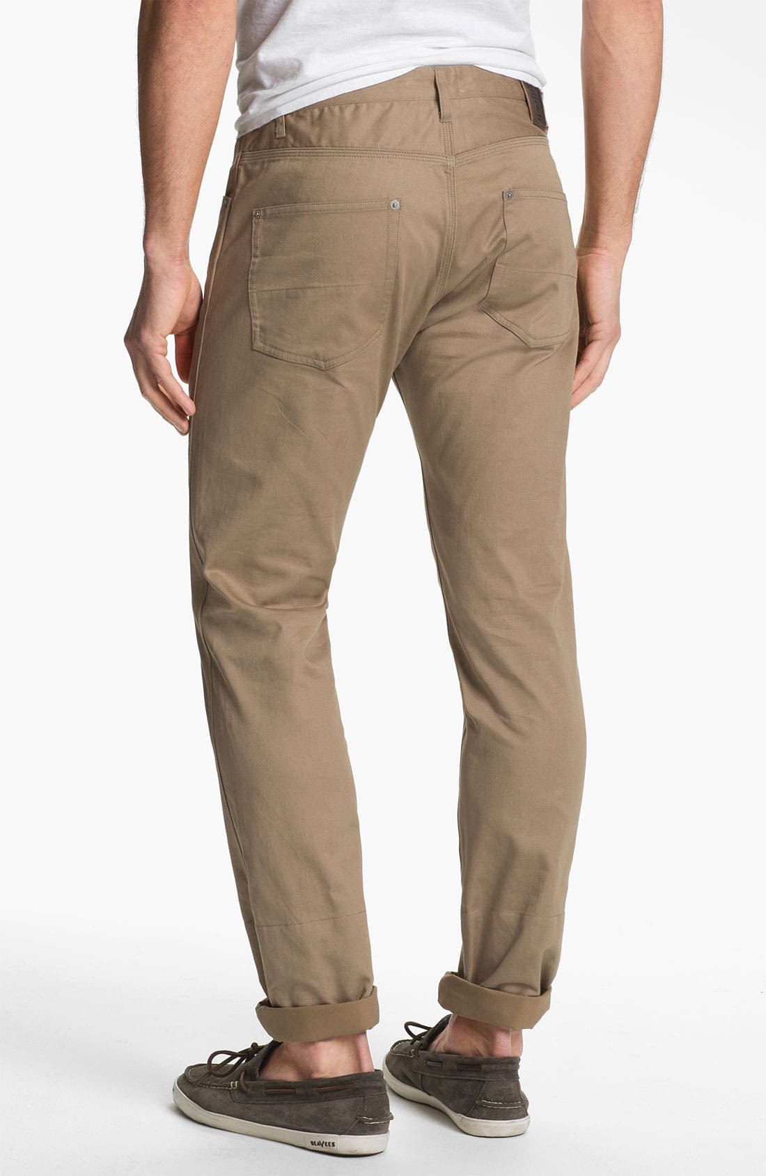 Alternate Image 1 Selected - Stussy Deluxe Slim Straight Leg Twill Pants