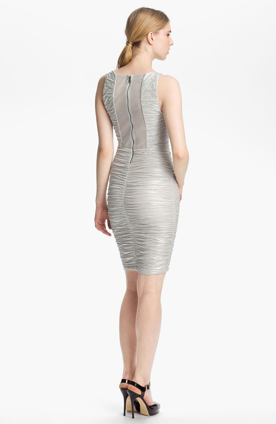 Alternate Image 2  - Alice + Olivia Ruched & Foiled Jersey Dress