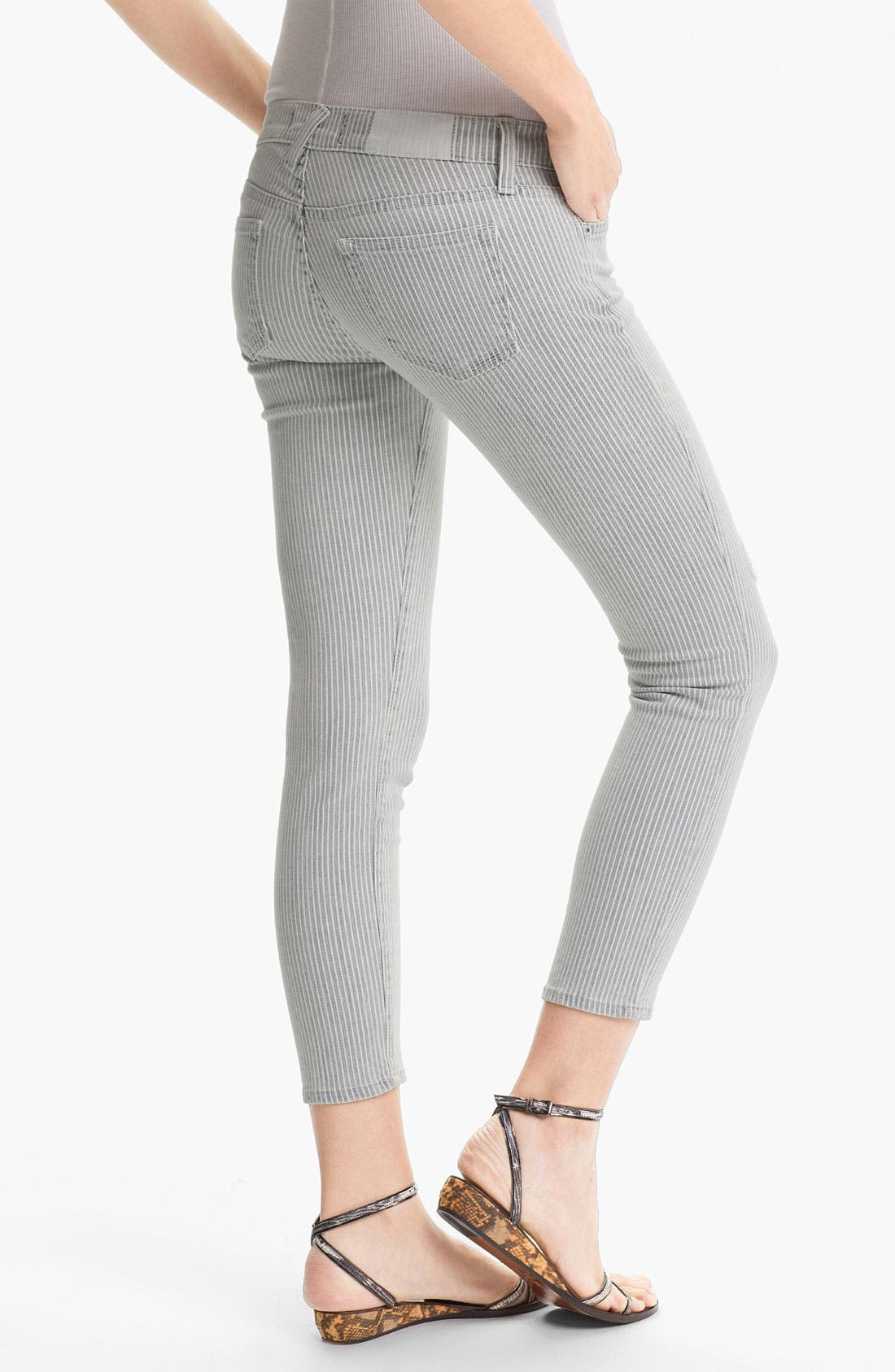 Alternate Image 2  - TEXTILE Elizabeth and James 'Ozzy' Conductor Stripe Stretch Jeans
