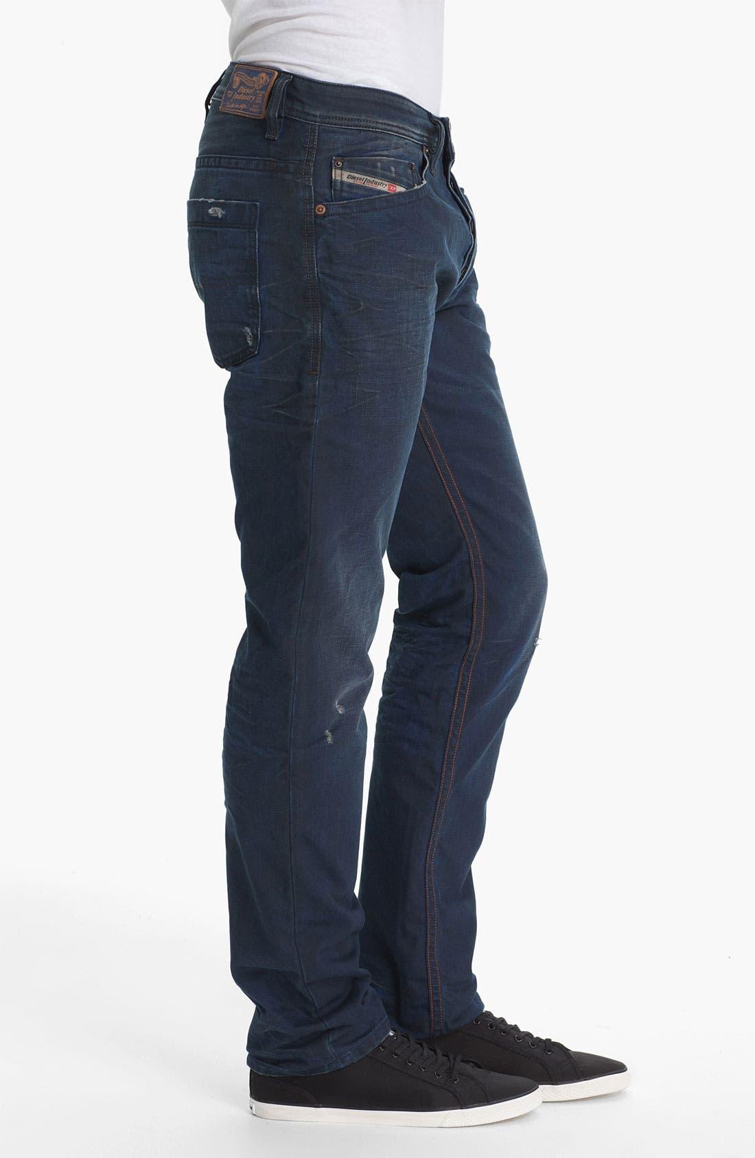 Alternate Image 3  - DIESEL® 'Braddom' Slim Tapered Leg Jeans (0811K)