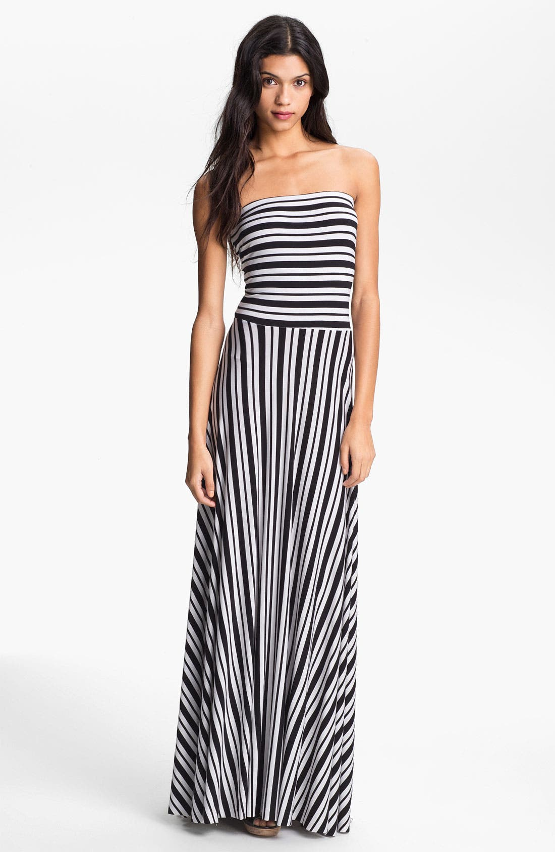 Alternate Image 1 Selected - Felicity & Coco Stripe Strapless Maxi Dress (Nordstrom Exclusive)