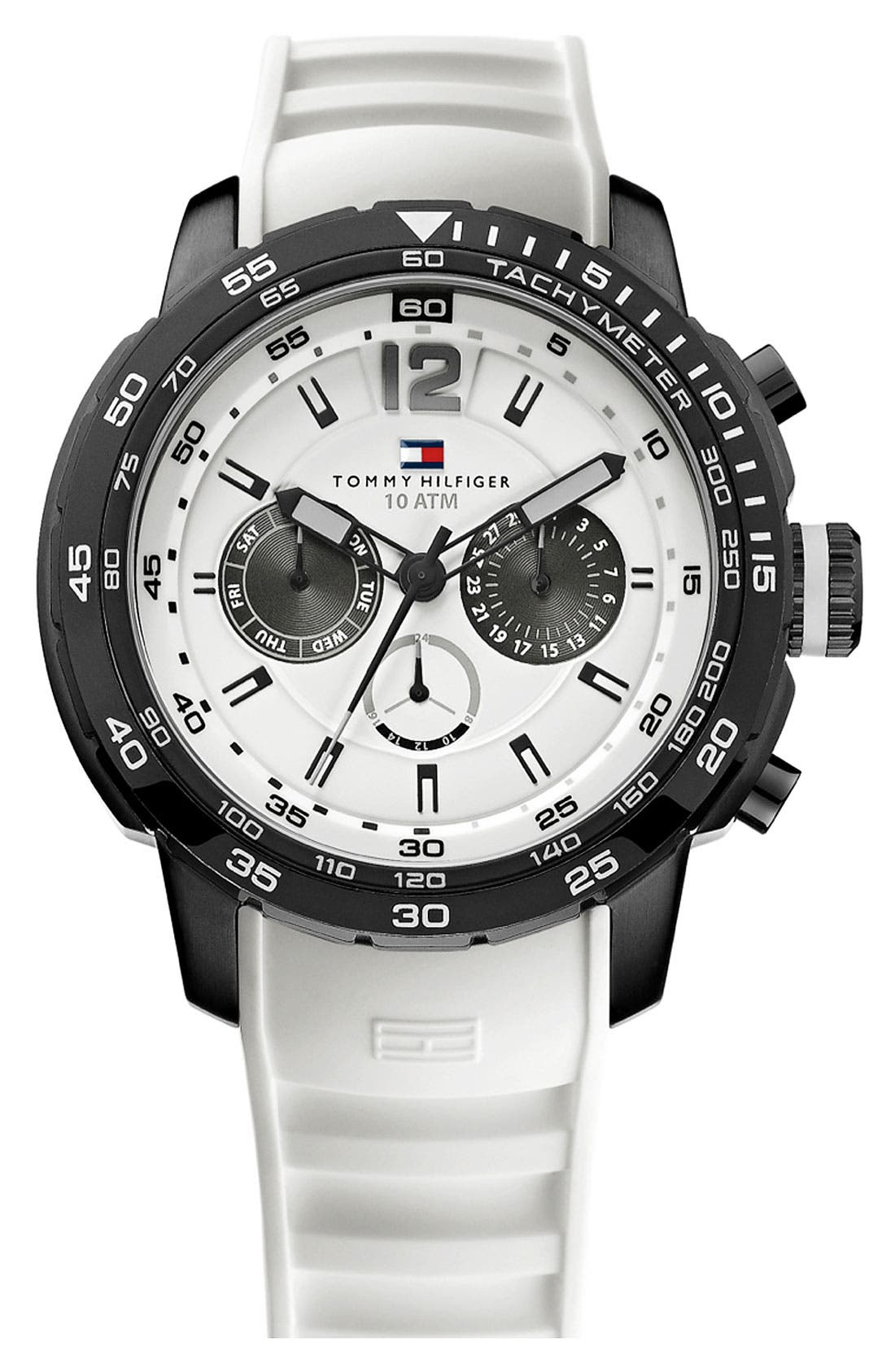 Main Image - Tommy Hilfiger Multifunction Diver's Watch, 46mm