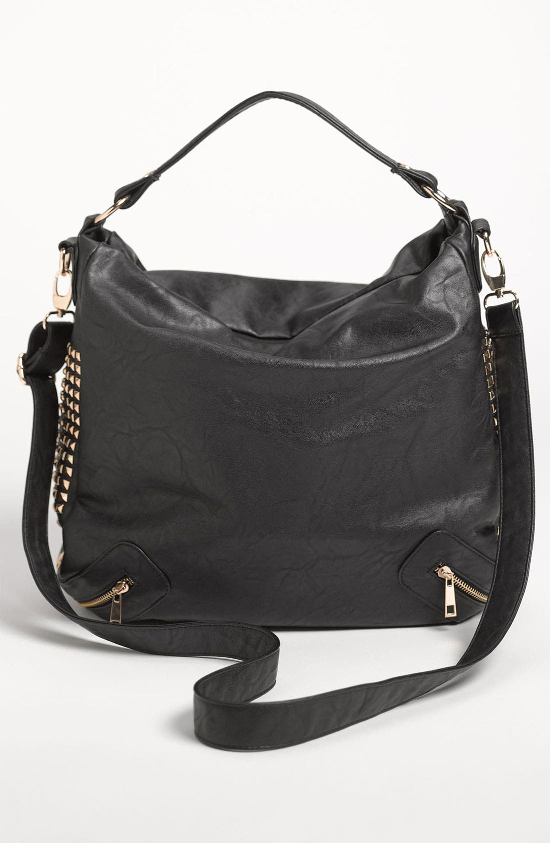 Alternate Image 4  - Top Choice Studded Convertible Hobo Bag