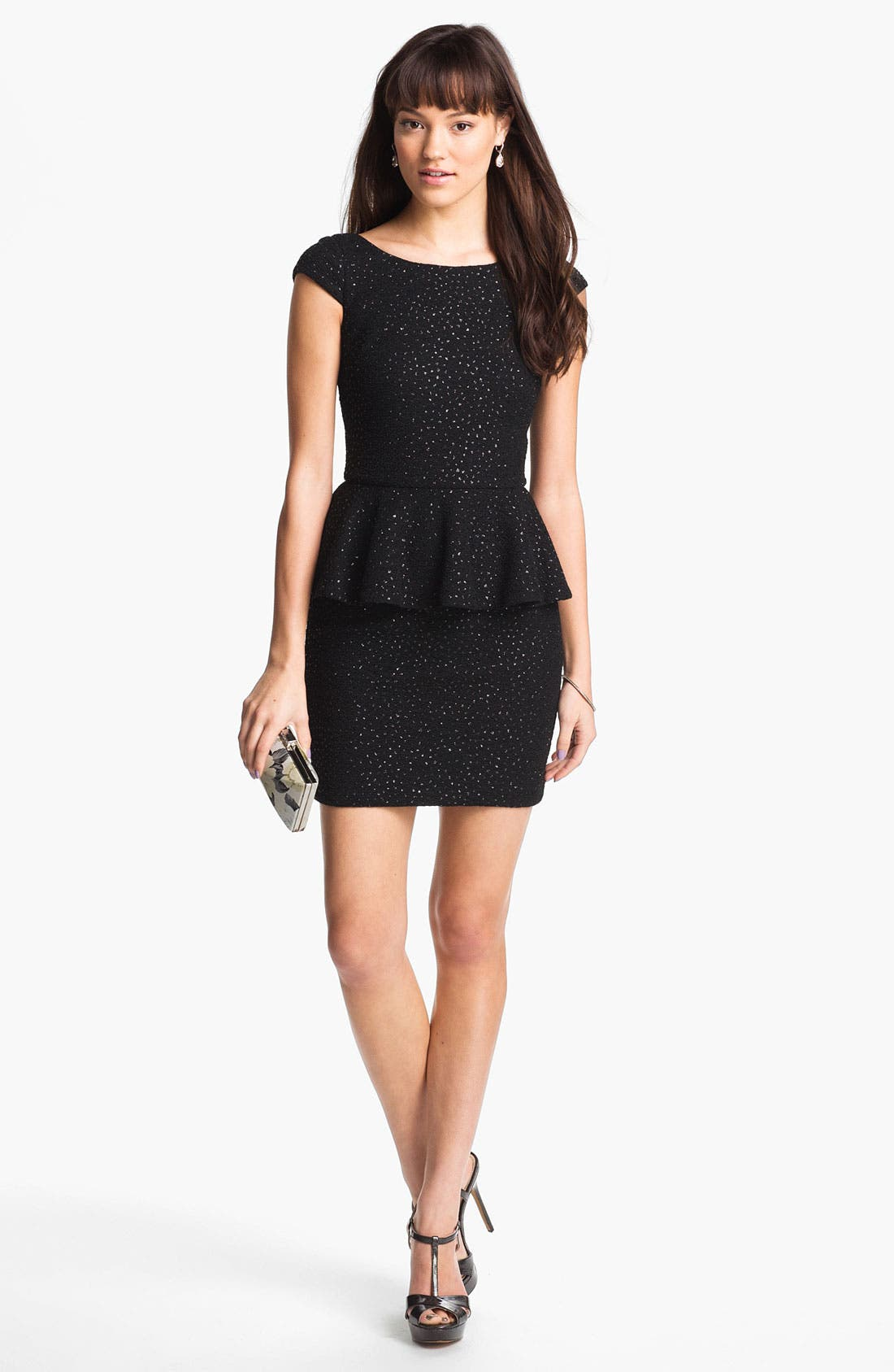 Main Image - Hailey by Adrianna Papell Crinkled Jersey Peplum Dress (Online Exclusive)