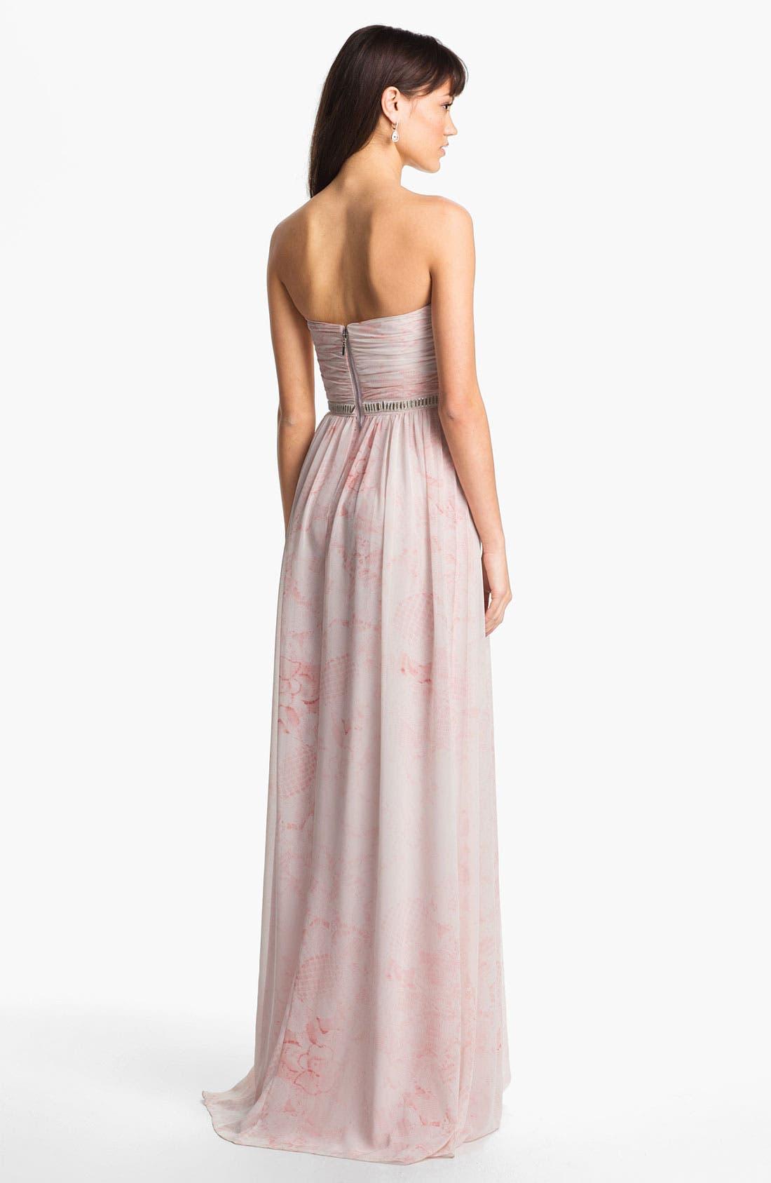 Alternate Image 2  - ERIN erin fetherston 'Cross Heart' Embellished Chiffon Gown
