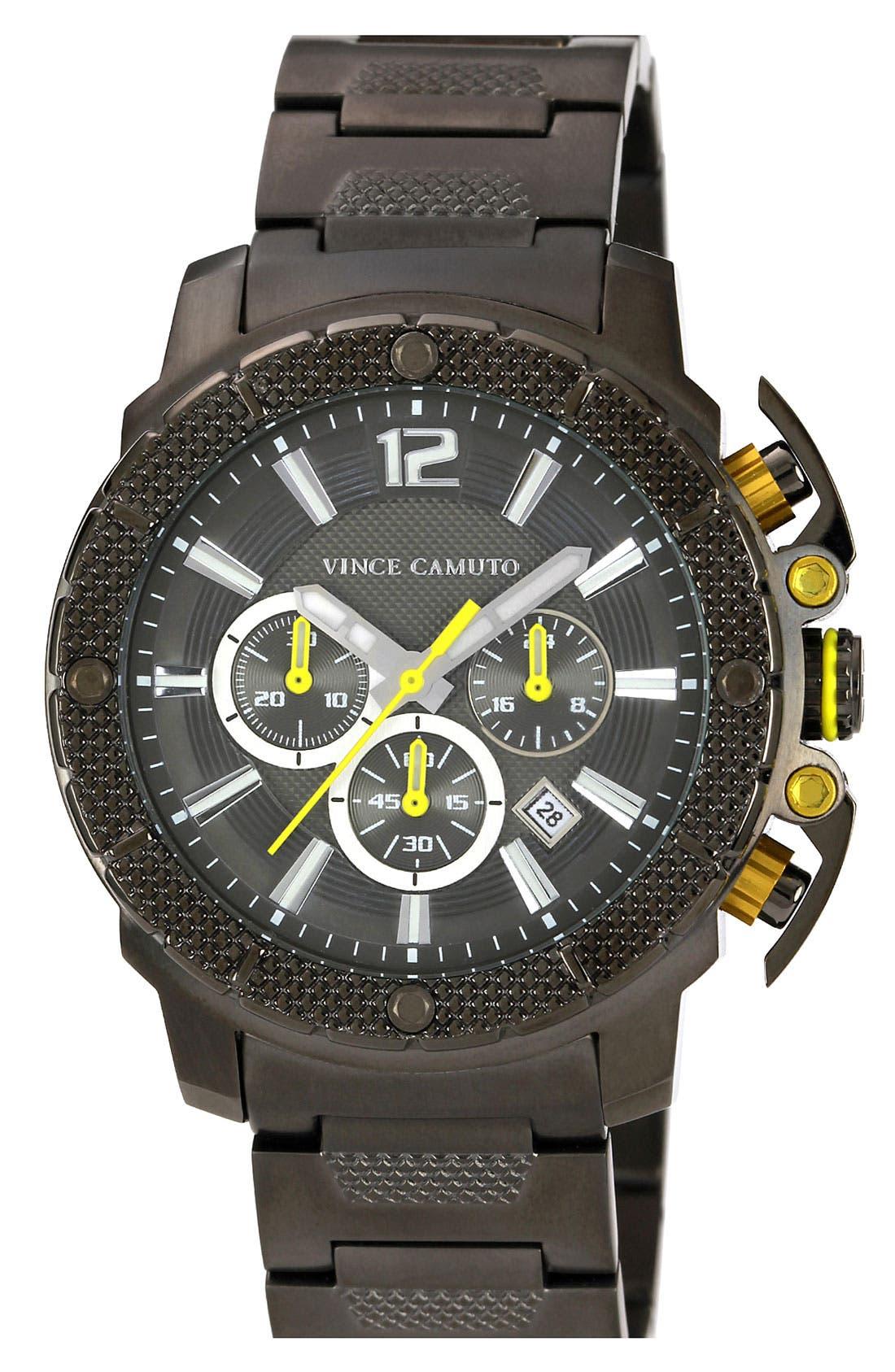 Main Image - Vince Camuto 'Striker' Chronograph Bracelet Watch, 45mm