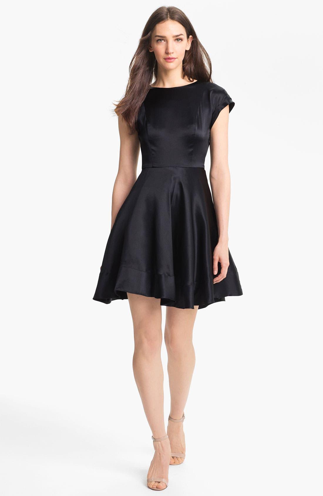 Alternate Image 1 Selected - Ted Baker London Silk Fit & Flare Dress