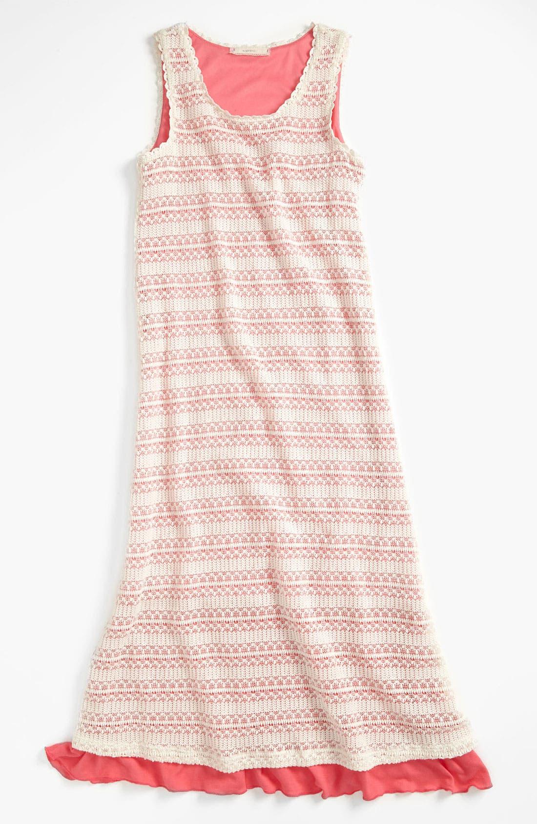 Main Image - Soprano Lace Maxi Dress (Little Girls & Big Girls)