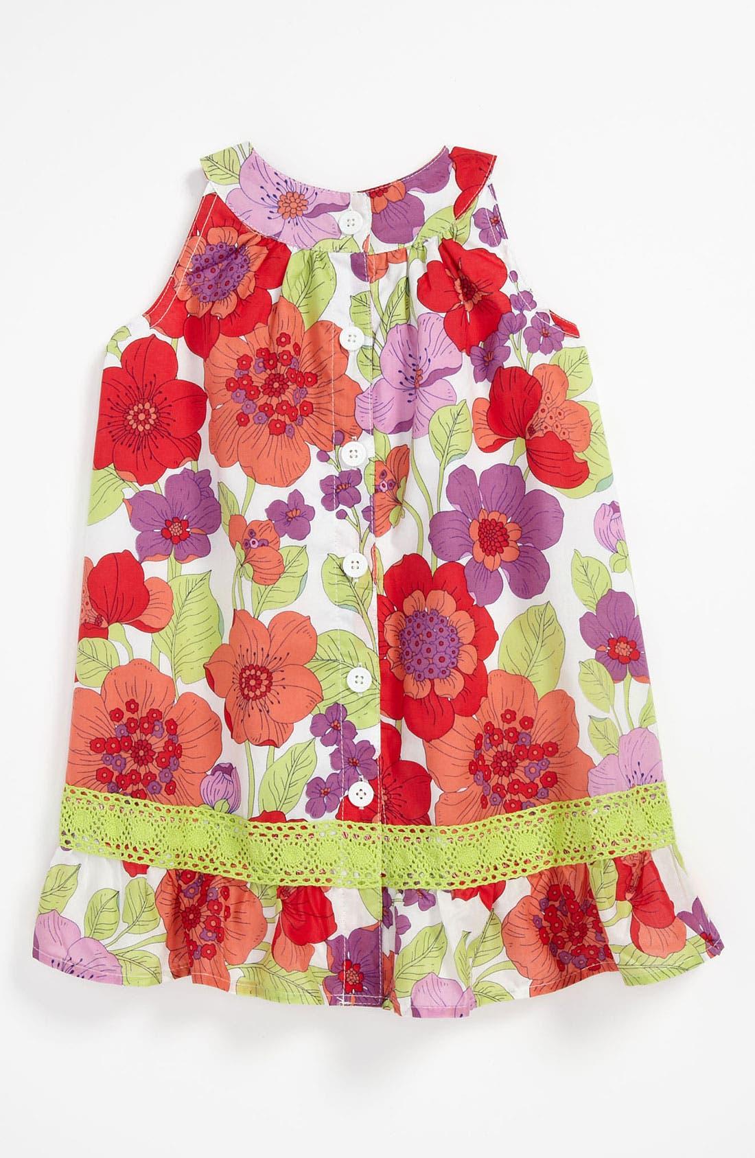 Alternate Image 2  - Pumpkin Patch Floral Dress (Infant)