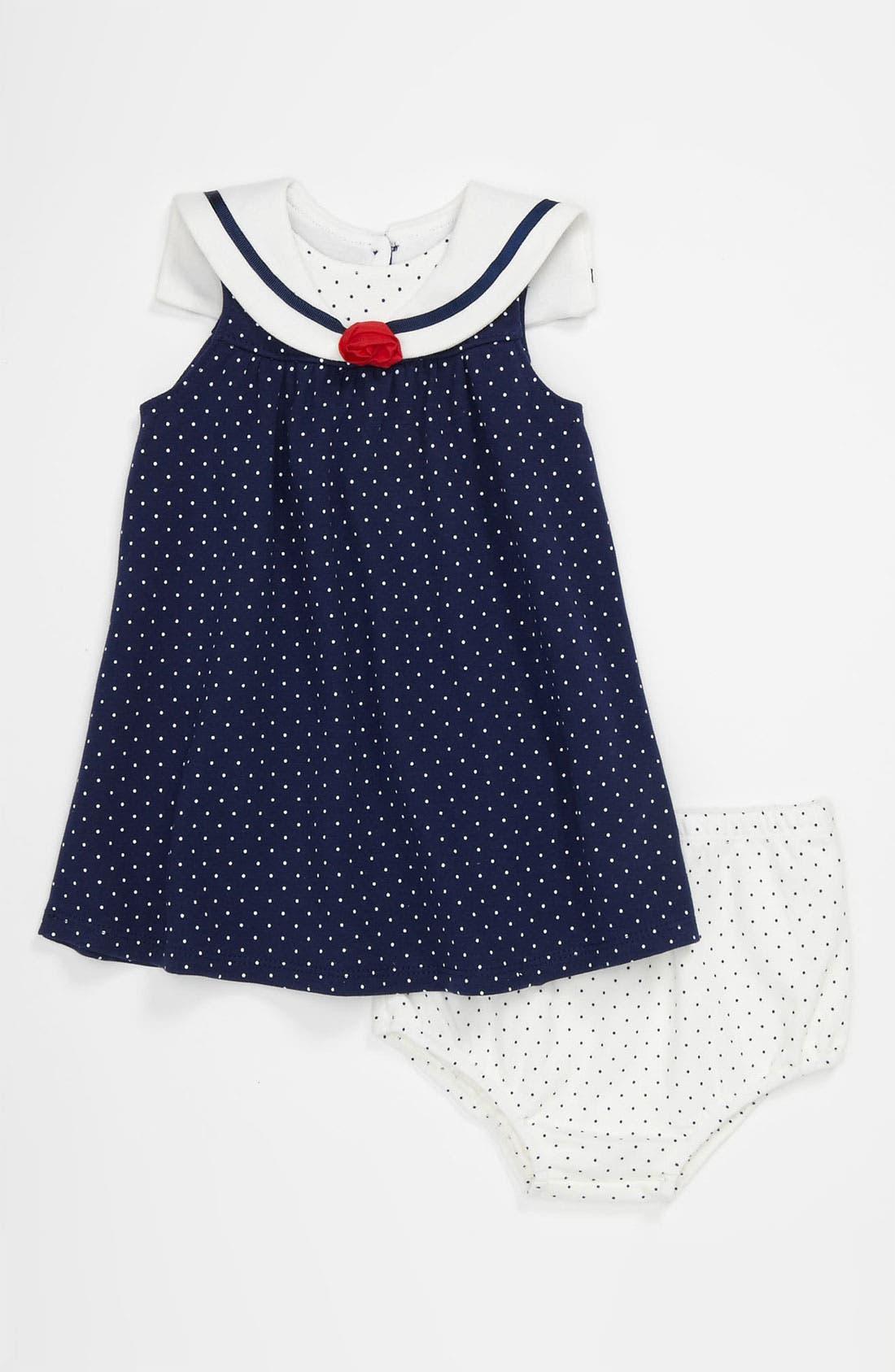 Alternate Image 1 Selected - Little Me Dress & Bloomers (Infant)