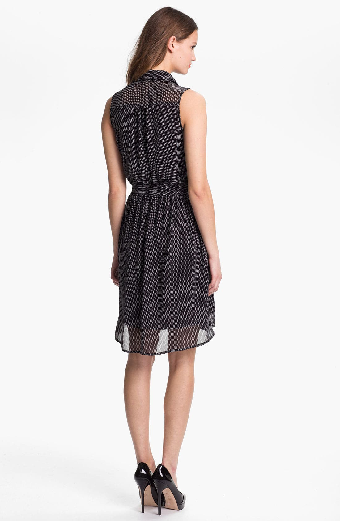 Alternate Image 2  - Press Sleeveless Shirtdress (Online Only)